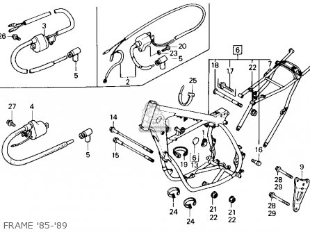 Honda CR125R 1987 (H) USA parts lists and schematics
