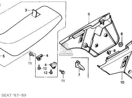 Honda Cr125r 1987 (h) Usa parts list partsmanual partsfiche
