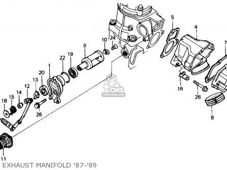 Honda Cr125r 1987 Usa parts list partsmanual partsfiche
