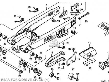 Honda CR125R 1988 (J) AUSTRALIA parts lists and schematics