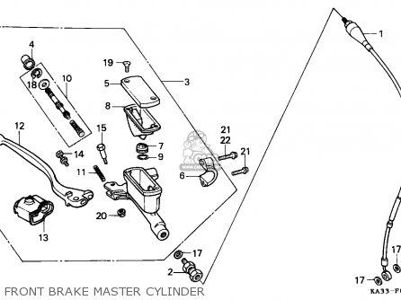 Honda Cr125r 1989 Australia parts list partsmanual partsfiche