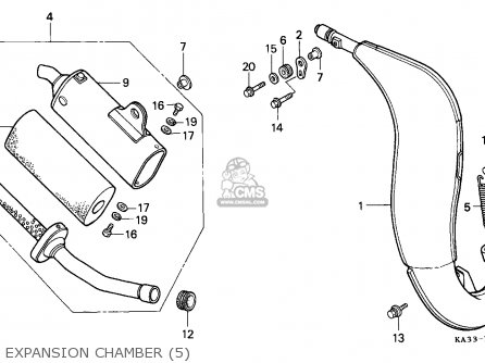 110cc atv engine diagram nissan frontier radio wiring honda cr125r 1989 k australia parts lists and schematics expansion chamber 5