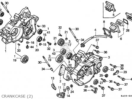 Honda Cr125r 1989 (k) European Direct Sales parts list