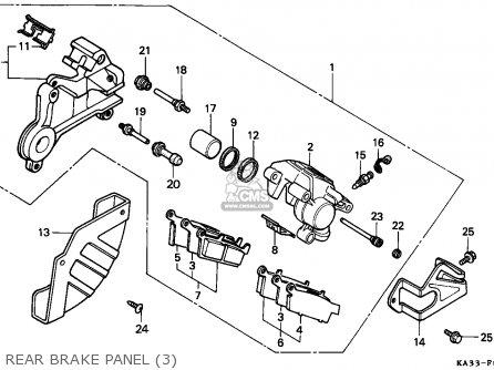 Honda Cr125r 1989 (k) European Direct Sales parts list