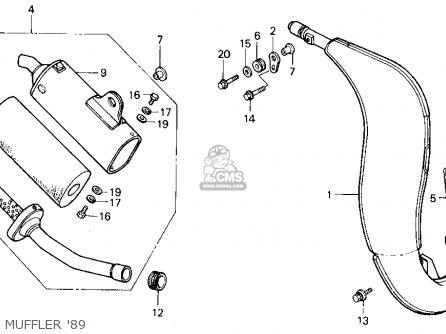 Honda Cr125r 1989 (k) Usa parts list partsmanual partsfiche