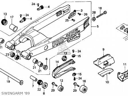 Honda CR125R 1989 (K) USA parts lists and schematics