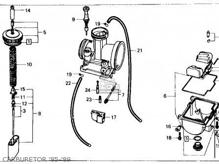 Honda Cr125r 1989 Usa parts list partsmanual partsfiche