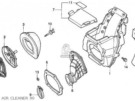Honda CR125R 1990 (L) USA parts lists and schematics