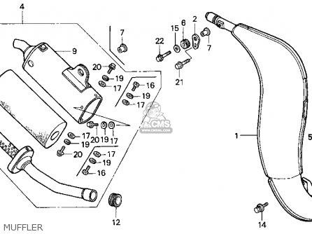 Honda Cr125r 1990 (l) Usa parts list partsmanual partsfiche