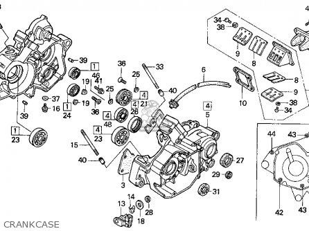 Honda Cr125r 1990 Usa parts list partsmanual partsfiche