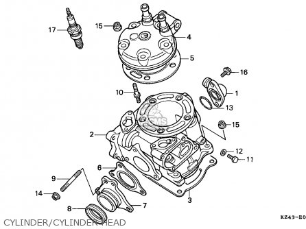 Honda CR125R 1991 (M) AUSTRALIA parts lists and schematics