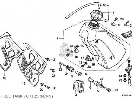 Honda Cr125r 1991 (m) Australia parts list partsmanual