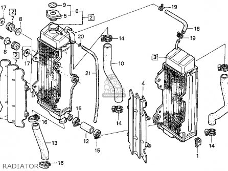 Honda CR125R 1991 (M) USA parts lists and schematics