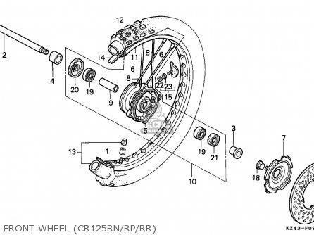 Honda Cr125r 1992 Australia parts list partsmanual partsfiche