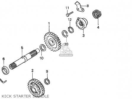Honda Cr125r 1992 (n) Usa parts list partsmanual partsfiche