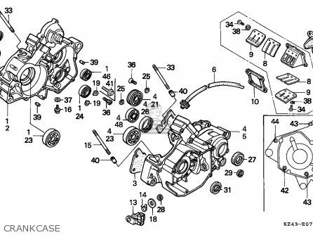 Honda Cr125r 1993 Australia parts list partsmanual partsfiche