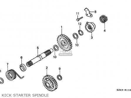 Honda CR125R 1993 (P) CANADA / CMF parts lists and schematics