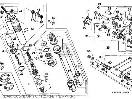 Honda Cr125r 1993 (p) Canada / Cmf parts list partsmanual