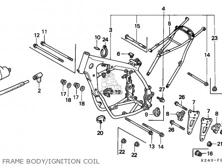 Honda Cr125r 1994 (r) Netherlands / Cmf parts list