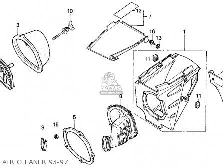 Honda Cr125r 1994 (r) Usa parts list partsmanual partsfiche