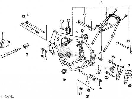 Honda CR125R 1994 (R) USA parts lists and schematics