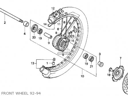 Honda Cr125r 1994 (r) Usa parts list partsmanual partsfiche