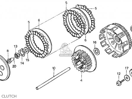 Honda cr 125 clutch diagram