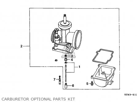 Honda Cr125r 1995 Australia parts list partsmanual partsfiche