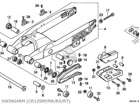 Honda Cr125r 1995 (s) Australia parts list partsmanual