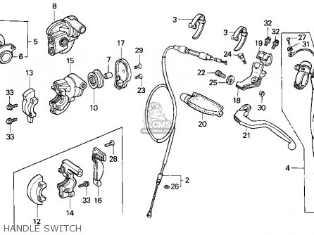 Honda Cr125r 1995 (s) Usa parts list partsmanual partsfiche