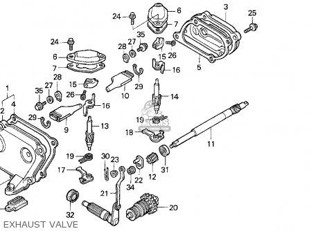 Honda Cr125r 1995 Usa parts list partsmanual partsfiche