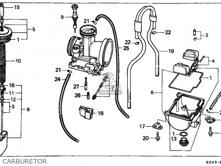 Honda CR125R 1996 (T) AUSTRALIA parts lists and schematics