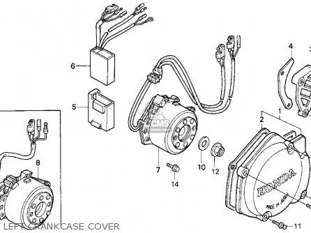 Honda CR125R 1996 (T) USA parts lists and schematics