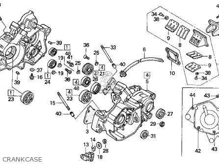 Honda Cr125r 1997 (v) Usa parts list partsmanual partsfiche
