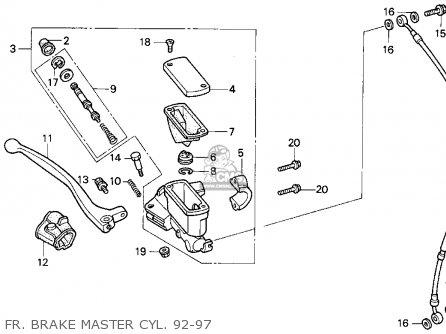 Honda CR125R 1997 (V) USA parts lists and schematics