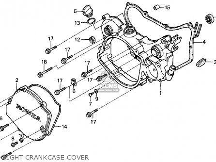 Honda Cr125r 1997 (v) Usa parts list partsmanual partsfiche