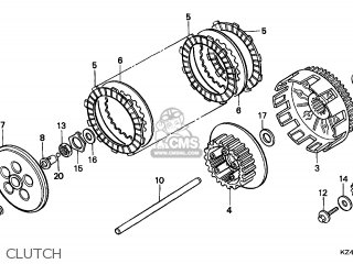 Honda CR125R 1998 (W) CANADA / CMF parts lists and schematics