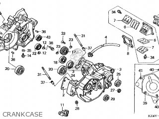 Honda CR125R 2000 (Y) USA parts lists and schematics