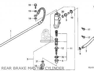 Honda CR125R 2000 (Y) USA parts lists and schematics