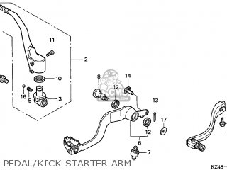 Honda CR125R 2002 (2) CANADA parts lists and schematics
