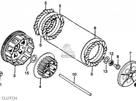 Honda Cr125r Elsinore 1979 (z) Usa parts list partsmanual