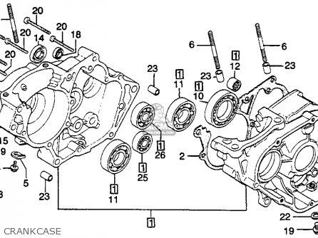 Honda Cr125r Elsinore 1979 (z) Usa parts list partsmanual