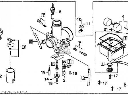 Honda CR125R ELSINORE 1980 (A) USA parts lists and schematics