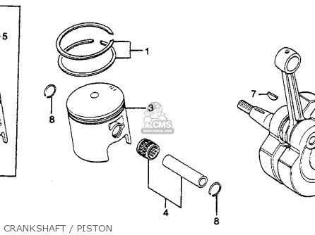 Honda Cr125r Engine Wiring Diagram Honda Engine Parts