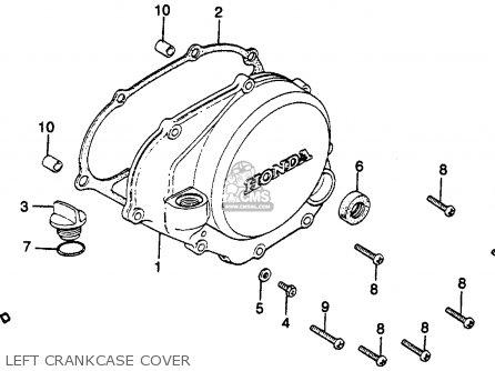 Honda Cr125r Elsinore 1980 (a) Usa parts list partsmanual