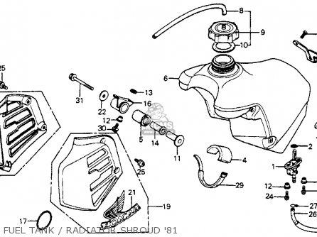 Honda CR125R ELSINORE 1981 (B) USA parts lists and schematics
