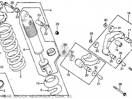 Honda Cr125r Elsinore 1981 (b) Usa parts list partsmanual