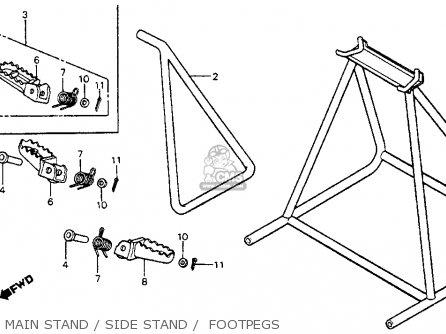 Honda Cr125r Elsinore 1982 (c) Usa parts list partsmanual