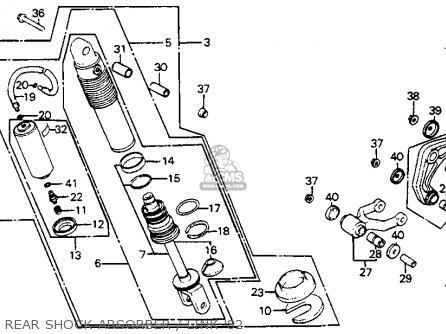 Honda CR125R ELSINORE 1982 (C) USA parts lists and schematics