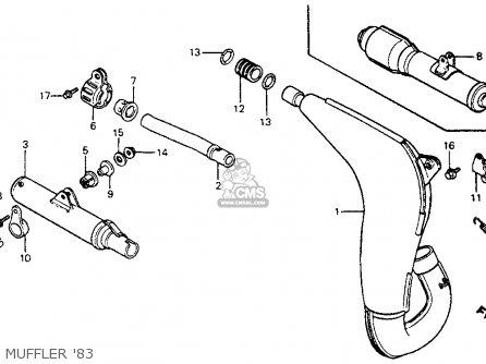 Honda CR125R ELSINORE 1983 (D) USA parts lists and schematics